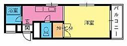サンアベニュー須玖[203号室]の間取り