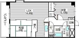 コスモ松島[801号室]の間取り