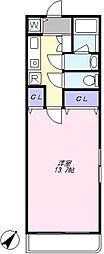 グランドゥール駒沢 3階1Kの間取り