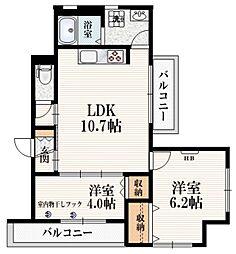 (仮称)柴崎町5丁目Iマンション 3階2LDKの間取り