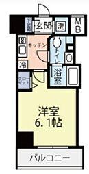 グランヴァン横濱反町 5階1Kの間取り
