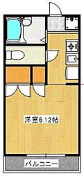 ハイツワイエム[3階]の間取り