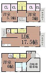 [一戸建] 東京都大田区山王4丁目 の賃貸【/】の間取り