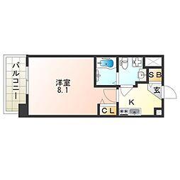 Osaka Metro四つ橋線 玉出駅 徒歩1分の賃貸マンション 4階1Kの間取り