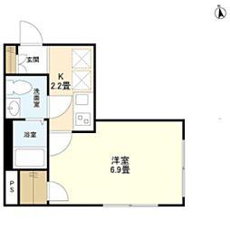 東京メトロ有楽町線 江戸川橋駅 徒歩3分の賃貸マンション 1階1Kの間取り