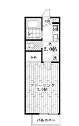 フレア・プランドール[1階]の間取り