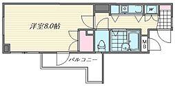 エスポワール箱崎III[201号室]の間取り
