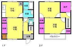 [一戸建] 兵庫県加古川市別府町中島町 の賃貸【/】の間取り