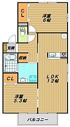 エスペランス西神戸B[1階]の間取り