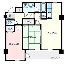 エスポワール青葉台B棟[6階]の間取り