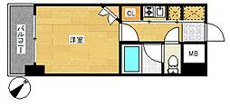 エステート・モア・天神AXIS[5階]の間取り