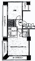 ライオンズマンション関内第5[602号室]の間取り