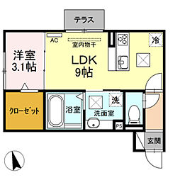仮)D-room大塚町[1階]の間取り