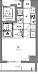 JR総武本線 馬喰町駅 徒歩2分の賃貸マンション 6階1Kの間取り