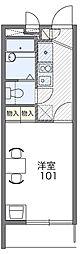 ベイサイド横濱[1階]の間取り