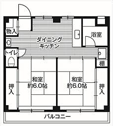 ビレッジハウス鎌ヶ谷[3階]の間取り