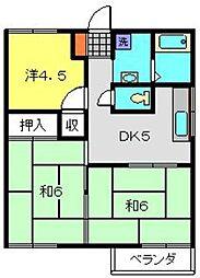 サンハイツA[2階]の間取り