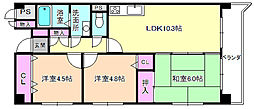 アビタシオン長尾駅前[2階]の間取り