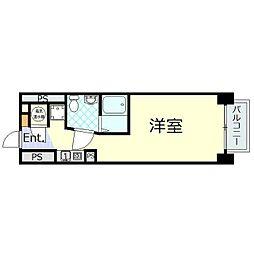 東京メトロ日比谷線 神谷町駅 徒歩3分の賃貸マンション 3階ワンルームの間取り