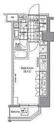 JR山手線 秋葉原駅 徒歩6分の賃貸マンション 6階ワンルームの間取り