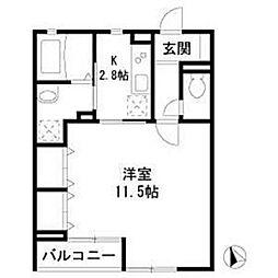 ベラコリーネ[2階]の間取り