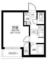 都営大江戸線 東中野駅 徒歩7分の賃貸アパート 1階1Kの間取り