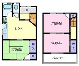 [一戸建] 大阪府松原市阿保6丁目 の賃貸【/】の間取り