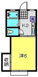 神奈川県横浜市南区別所1丁目の賃貸アパートの間取り