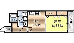 フィエルメンテ[6階]の間取り