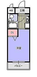 メゾン・ド・香椎参道[507号室]の間取り