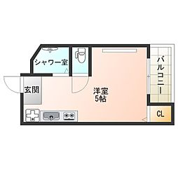 パールスタイル福島[4階]の間取り