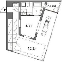 トレフォルム E棟 3階1LDKの間取り