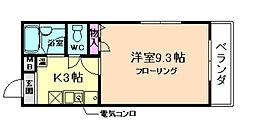 メゾンウッディ[1階]の間取り