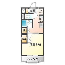 愛知県豊橋市飯村南3丁目の賃貸マンションの間取り