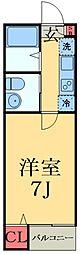 京成本線 八千代台駅 徒歩15分の賃貸アパート 1階1Kの間取り