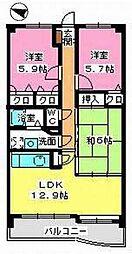 エンデバー武蔵[402号室]の間取り