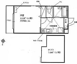 神奈川県川崎市多摩区宿河原4丁目の賃貸アパートの間取り