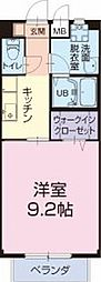 長野県東御市和の賃貸アパートの間取り