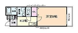 大阪府大阪市此花区西九条1丁目の賃貸アパートの間取り