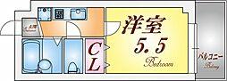 福田ハウス[302号室]の間取り