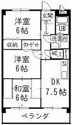 三重県伊勢市勢田町の賃貸アパートの間取り
