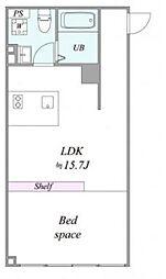 都営三田線 西台駅 徒歩7分の賃貸マンション 1階1LDKの間取り