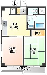 清和レジデンス[2階]の間取り