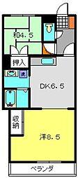 神奈川県横浜市保土ケ谷区峰岡町3丁目の賃貸マンションの間取り
