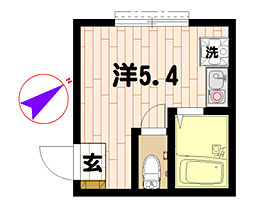 ラフィーネ三ツ沢[103号室]の間取り