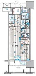 アクタス箱崎ステーションコート 9階1LDKの間取り