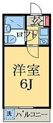 千葉県千葉市中央区浜野町の賃貸アパートの間取り