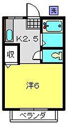 神奈川県横浜市港南区上大岡東2丁目の賃貸アパートの間取り