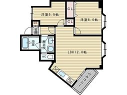 メゾン豊新[6階]の間取り