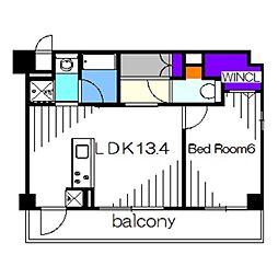 Osaka Metro御堂筋線 新金岡駅 徒歩7分の賃貸マンション 1階1LDKの間取り